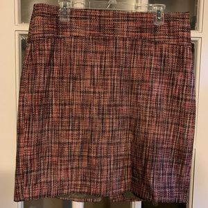 The Limited pink tweed skirt
